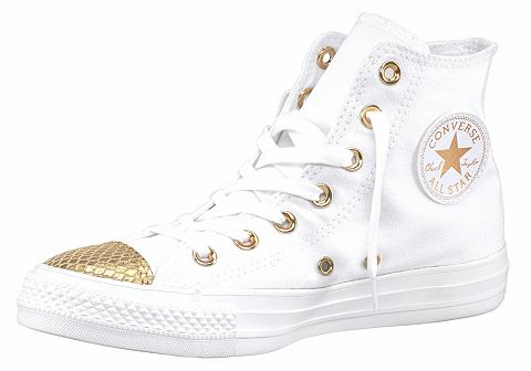 Converse Converse Botasky »Chuck Taylor All Star Metallic Toecap Hi« bílá/zlatá barva - EURO velikosti 42