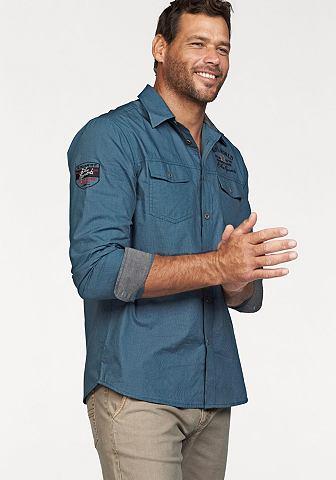 Man's World Man's World Košile s dlouhými rukávy modrá - standardní velikost XL (43/44)