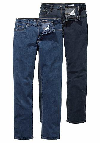 Arizona Srečové džíny, Arizona (2 ks) tmavě modrá+modrá stone - N 62