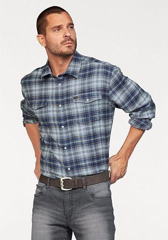 Arizona Arizona Košile modrá/bílá/hnědá kostkovaná - standardní velikost XL (43/44)