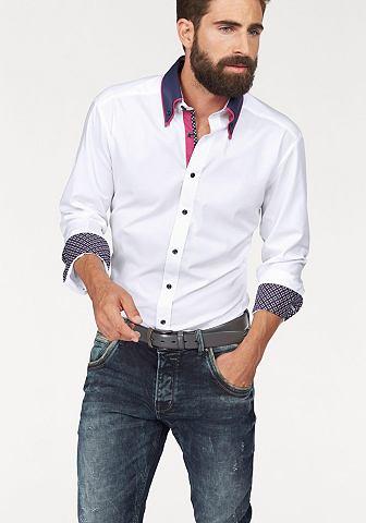 Bruno Banani Bruno Banani Košile bílá/kontrastní detaily - standardní velikost 43/44 (XL)