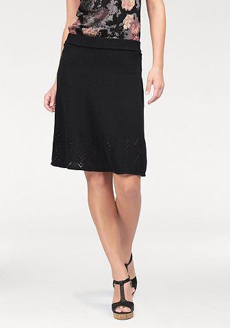 Boysen's Boysen's Pletená sukně černá - standardní velikost 32/34(XS)