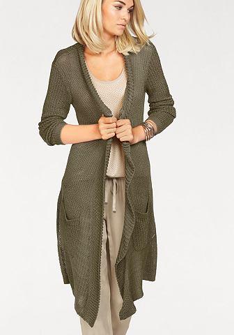 Laura Scott Laura Scott Dlouhý pletený svetr »s šálovým límcem« olivová - standardní velikost 32/34
