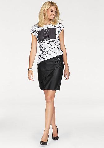 Laura Scott Laura Scott Koženková sukně černá - standardní velikost 32