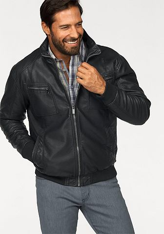 Man's world Man's World Motorkářská bunda černá - standardní velikost XXXL (64/66)