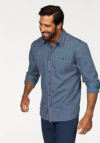 Man's world Man's World Kostkovaná košile modrá-zelená-oranžová-kostková - standardní velikost XL (43/44)