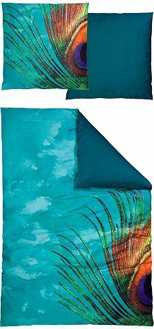 Oboustranné ložní prádlo, Auro Hometextile »páv« s motivem pavího pírka