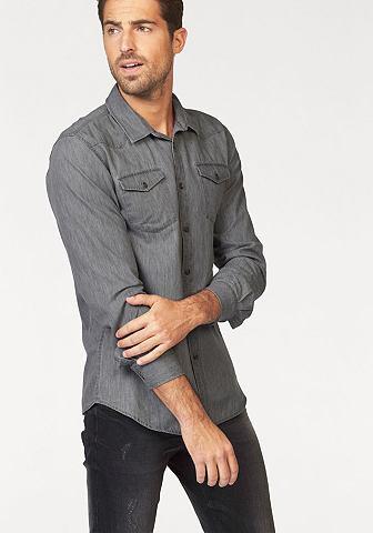 John Devin John Devin Košile s dlouhými rukávy šedá - standardní velikost XL (43/44)
