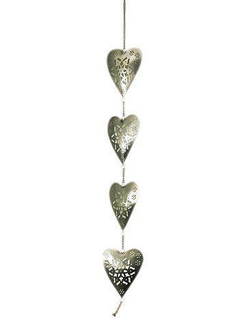 heine home Dekorace - srdce stříbrná barva - délka cca 90 cm