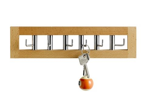 heine home Lišta s háčky na klíče bílá - ca. 7,5x29x1,5 cm