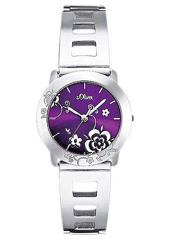 s.Oliver RED LABEL Náramkové hodinky, s.Oliver fialová