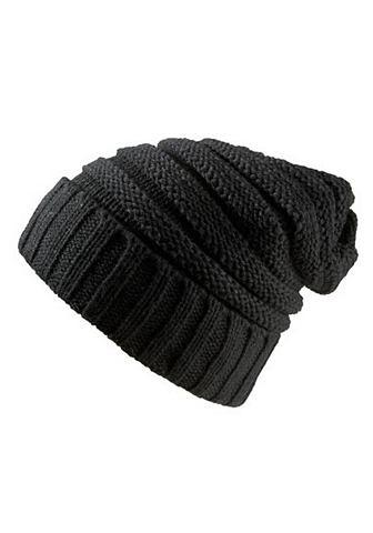 J.Jayz Pletená čepice černá - standardní velikost
