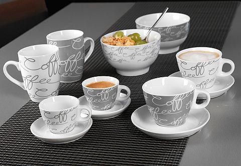 RITZENHOFF & BREKER Porcelánová sada, Ritzenhoff & Breker Sada na espresso, 4dílná (po 2 šálcích a podšálcích)