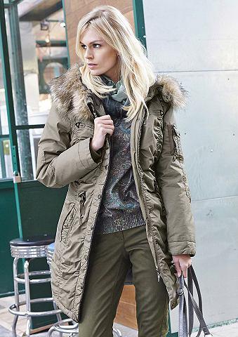 TAMARIS Zimní kabát, Tamaris tmavě béžová 38