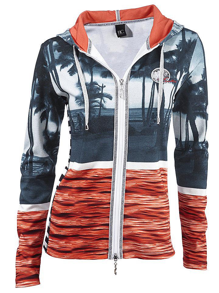 Кардиган OttoСпортивные куртки<br>Спереди надпись с отделкой стразами. Длина ок. 60 см. Покрой отлично подчёркивает фигуру. Из 85 % хлопка, 10 % полиэстера, 5 % эластана. Машинная стирка.<br><br>Size DE: 38<br>Colour: красный<br>Gender: Женский<br>Age: Взрослый<br>Material: Подкладка капюшона: 100% хлопок;Верх: 85% хлопок / 10% полиэстер / 5% эластан