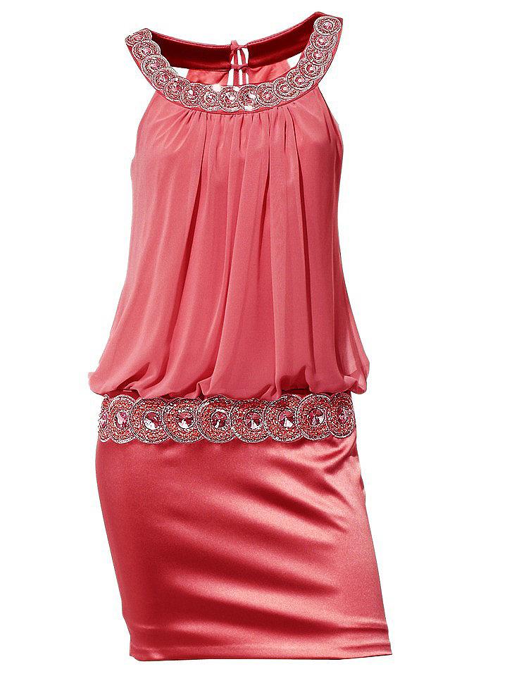 Коктейльное платье OttoКоктейльные<br>Платье для гламурной вечеринки! Свободный лиф из воздушного шифона элегантно переходит в облегающую юбку из блестящего сатина. Эффектная отделка из пайеток и страз привлекает внимание, а тонкие завязки на спинке подчеркнут хрупкость вашей фигуры. Длина — около 94 см. Сатин: 96% полиэстер, 4% эластан. Подкладка: джерси из 90% полиэстера, 10% эластана. Шифон: 100% полиэстер. Допускается машинная стирка.<br><br>Size DE: 34<br>Colour: красный<br>Gender: Женский<br>Age: Взрослый<br>Material: Шифон: 100% полиэстер;Подкладка: 90% полиэстер / 10% эластан;Верх: 63% ацетат / 34% полиамид / 3% эластан
