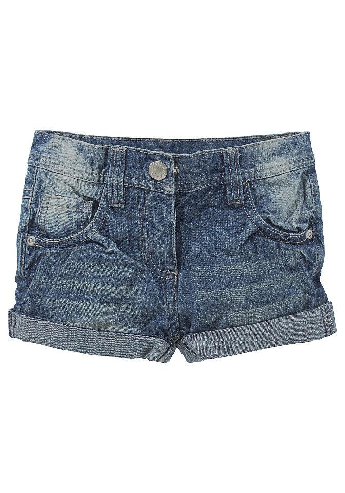 Kidoki, джинсовые шорты для девочек OttoБрюки и джинсы<br>Летняя актуальная тенденция для маленьких модниц. Покроя с 5 карманами. Резинка внутри до разм. 146. Кнопка до разм. 134. С небольшим, фиксированным отворотом по нижнему краю. Деним из 100 % хлопка.<br><br>Size DE: 134<br>Colour: синий<br>Age: Детский<br>Material: Верх: 100% хлопок