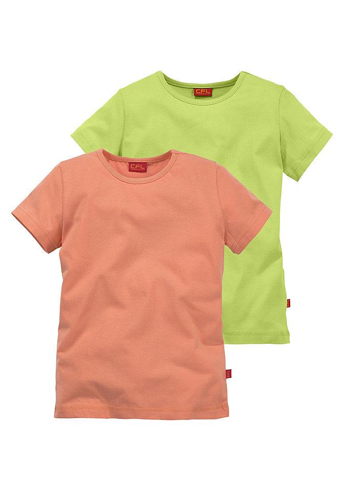 Футболка, CFL (2 шт.) OttoОчень удобные футболки великолепных расцветок. Базовый покрой. Хоть в спортзал, хоть на игровую площадку.  Из удивительно приятного на ощупь 100 % хлопка (био-хлопок со знаком PURE WEAR).<br><br>Size DE: 92<br>Colour: оранжевый<br>Age: Детский<br>Material: Верх: 100% Baumwolle_(unterst?tzt_Cotton_made_in_Africa)