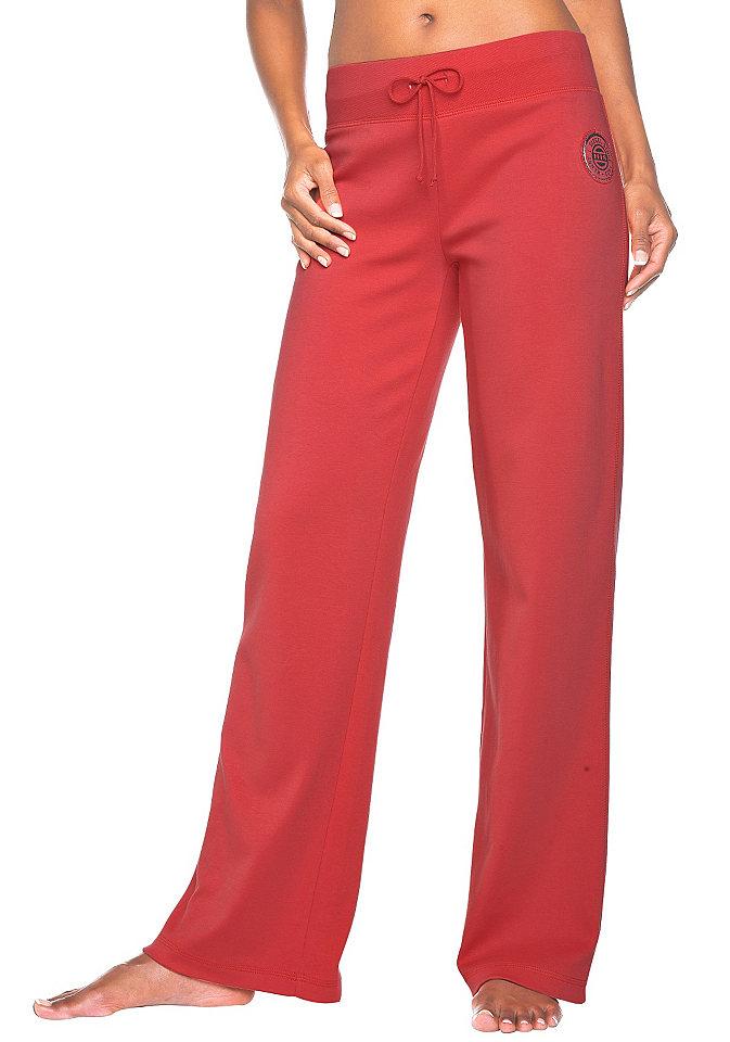 Спортивные брюки от H.I.S. Leggings. OttoОдежда для сна<br>Чудесные спортивные брюки со шнуровкой. Покрой, маскирующий проблемные зоны. С антипилинговым покрытием: застёжка с небольшим выступом на ткани. Из чистого хлопка.<br><br>Size DE: 36<br>Colour: красный<br>Gender: Женский<br>Age: Взрослый<br>Material: Верх: 100% хлопок