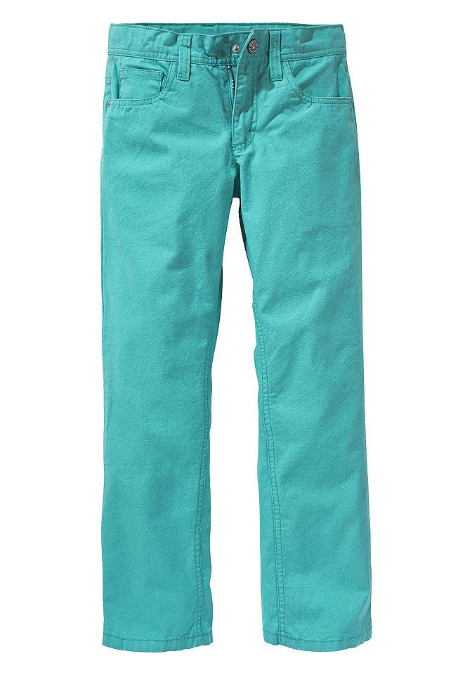 CFL, брюки из канвы OttoОдежда для праздника<br>Прямой покрой с 5 карманами. С очень большим карманом сзади. Регулируемый изнутри пояс до разм. 146, кнопка спереди до разм. 134. Из 100 % хлопка.<br><br>Size DE: 182<br>Colour: синий<br>Gender: Мужской<br>Age: Детский<br>Material: Верх: 100% хлопок