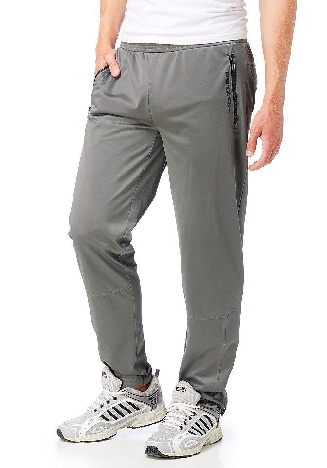 Спортивные брюк OttoБрюки<br>Стильные спортивные штаны от Bruno Banani изготовлены из ткани с эффектом металлик, что сделает ваши занятия спортом еще более приятными. Рекомендована машинная стирка. Модель узкого покроя украшена принтом с логотипом бренда. Состав: 100% полиэстер.<br><br>Size DE: XS<br>Colour: серый<br>Gender: Женский<br>Age: Взрослый<br>Material: Верх: 100% полиэстер