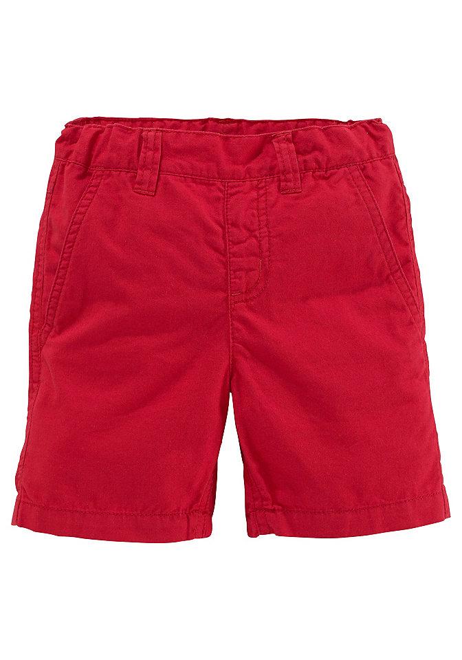 CFL шорты для мальчиков OttoБрюки и джинсы<br>Однотонная модель с круговой резиновой лентой. Два передних кармана, 2 задних кармана с клапаном. Регулируемый пояс.100% хлопок.<br><br>Size DE: 92<br>Colour: красный<br>Gender: Мужской<br>Age: Детский<br>Material: Верх: 100% хлопок