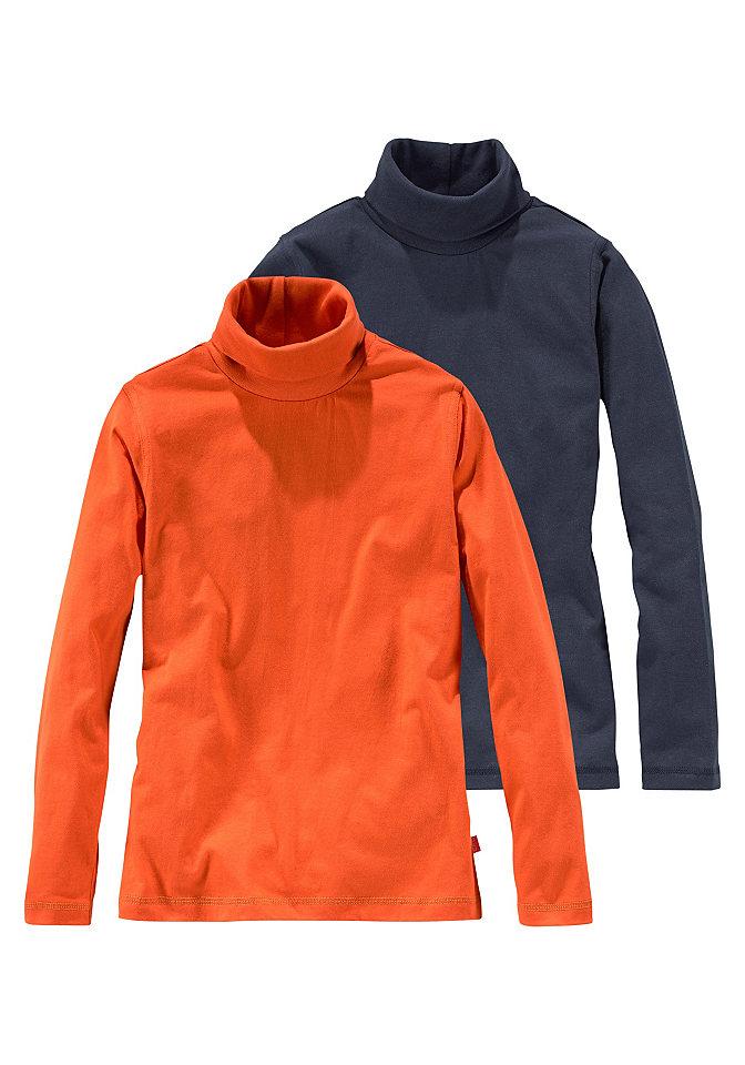 Водолазка, 2 штуки OttoФутболки и поло<br>Детская водолазка от модного бренда CFL – прекрасный выбор для создания стильных повседневных комплектов! Водолазка превосходно впишется в любой базовый детский гардероб. Высокий воротник хорошо защищает от ветра, а мягкий хлопковый материал легок в уходе и создает оптимальный комфорт. Классический покрой и актуальная длина делают водолазку удобной и добавляют ей непринужденности и динамичности. Модель составит прекрасные комбинации как с повседневными джинсами и пуловерами, так и со строгими брюками и пиджаками. Водолазка от CFL – стильно и практично!<br><br>Size DE: 128<br>Colour: оранжевый<br>Gender: Мужской<br>Age: Детский<br>Material: Верх: 100% хлопок