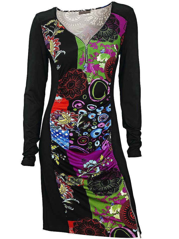 Платье с принтом OttoПлатья-кофты<br>0<br><br>Size DE: 42<br>Colour: Яркий<br>Gender: Женский<br>Age: Взрослый<br>Material: Верх 2: 92% вискоза / 8% эластан;Верх: 97% вискоза / 3% эластан