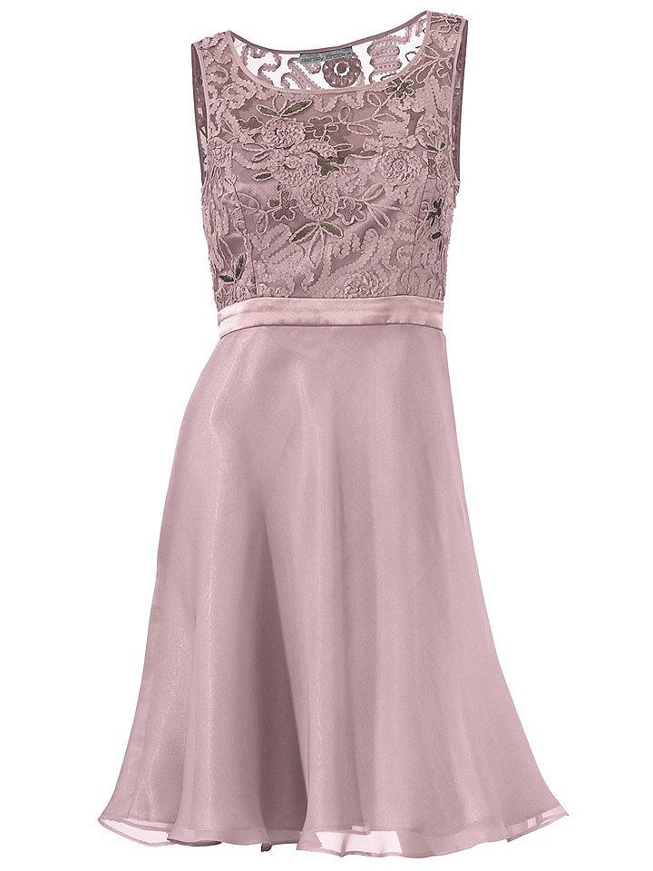 Кружевное платье OttoВечерние<br>Потрясающее платье из воздушного шифона с подкладкой из благородного сатина. Модель идеально подчеркивает фигуру, делая особый акцент на груди. Лиф декорирован вышивками и аппликациями из пайеток. Потайная застежка-молния вшита в боковой шов. Длина — около 94 см. Состав: 100% полиэстер. Подкладка: 100% полиэстер. Допускается машинная стирка.<br><br>Size DE: 44<br>Colour: розовый<br>Gender: Женский<br>Age: Взрослый<br>Material: Подкладка: 100% полиэстер;Верх: 100% полиэстер