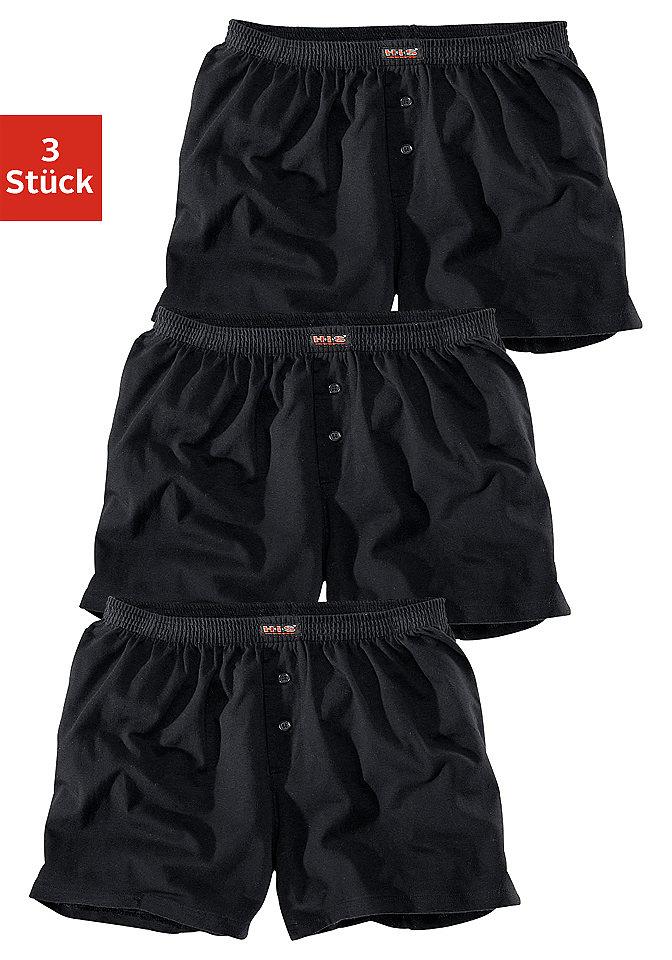 Боксёрские шорты, H.I.S (3 шт.) OttoБоксерские шорты<br>Удобная посадка, 3 однотонных расцветок или только чёрного цвета. Приятное, эластичное одинарное джерси из 95 % хлопка, 5 % эластана.<br><br>Size DE: 4<br>Colour: черный<br>Gender: Мужской<br>Age: Взрослый<br>Material: Верх: 95% хлопок / 5% эластан