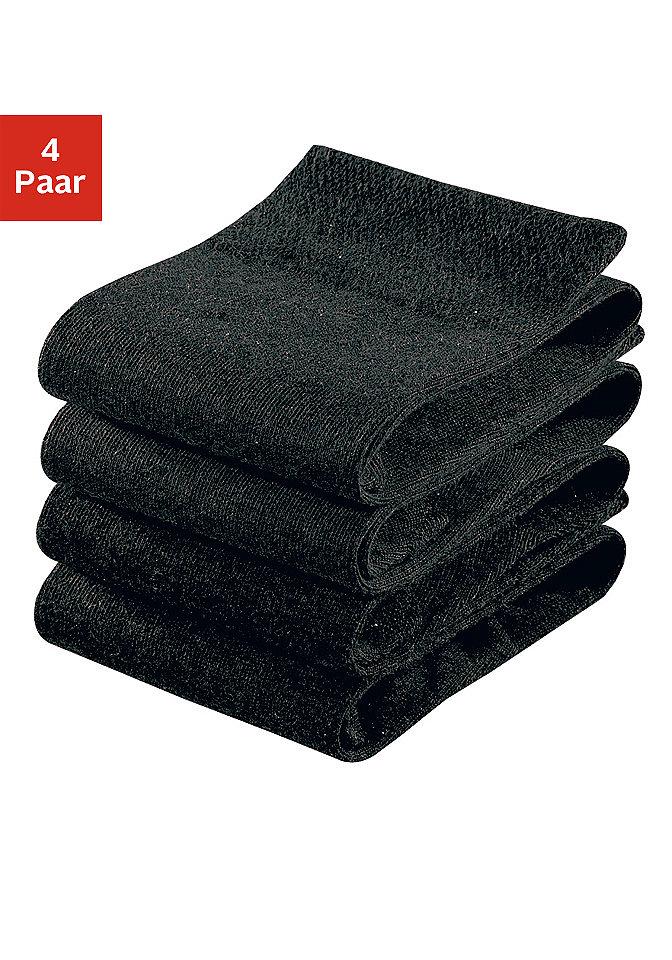 Носки, H.I.S (4 пары) OttoЧулки и носки<br>Без сдавливающей окантовки. Цветовой набор 1: светло-серый мел.+тёмно-серый мел.+синий морской+чёрный Цветовой набор 2: чёрный+тёмно-коричневый+цвет вербл. шерсти+бежевый Цветовой набор 3: 2x серый мел.+2x антрацит мел. Цветовой набор 4: коричневый+тёмно-коричневый+оливковый+бежевый. Из 78 % хлопка, 20 % полиамида, 2 % эластана (LYCRA®).<br><br>Size DE: 43<br>Colour: черный<br>Gender: Мужской<br>Age: Взрослый<br>Material: Верх: 78% хлопок / 20% полиамид / 2% эластан