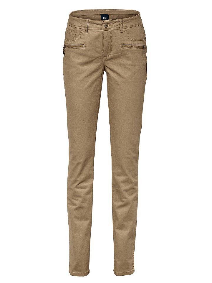 Джинсы OttoДжинсы «дудочки»<br>Женственная блуза облегающего кроя с глубоким вырезом, декорированным изящным воланом из джерси, и длинными рукавами с высокими манжетами. Длина для размера 38 около 64 см. Состав: 100% вискоза. Рекомендуется машинная стирка.<br><br>Size DE: 42<br>Colour: бежевый<br>Gender: Женский<br>Age: Взрослый<br>Material: Верх: 65% хлопок / 33% полиэстер / 2% эластан