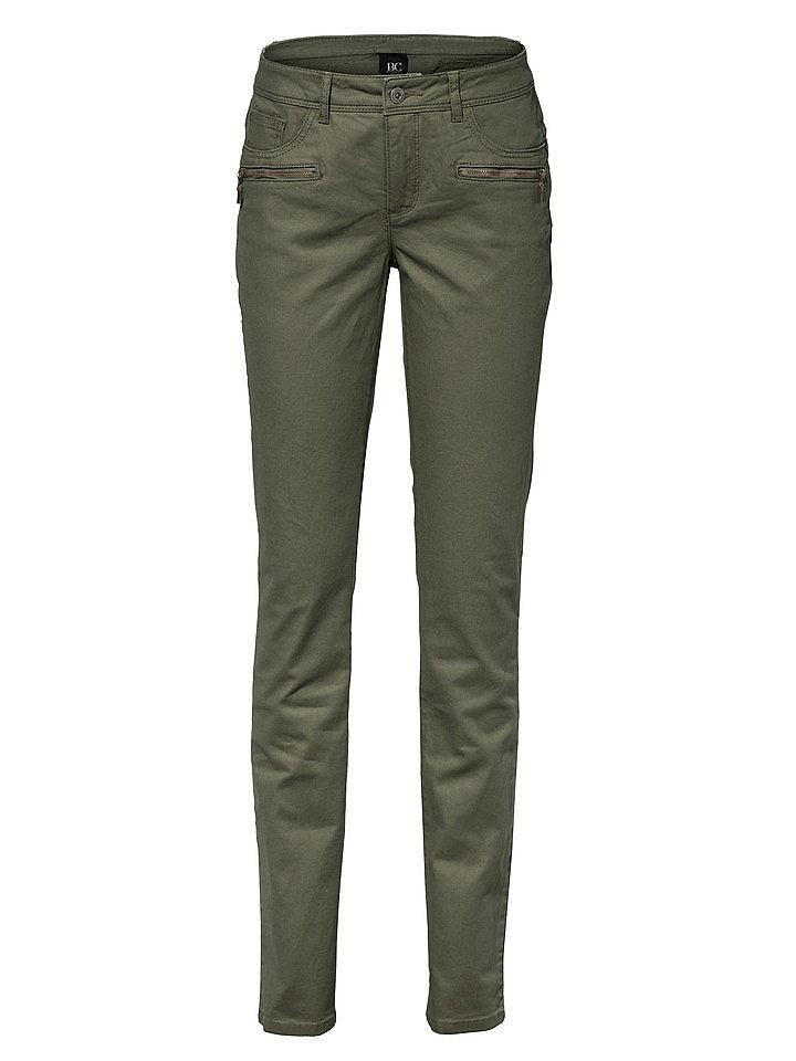 Джинсы OttoДжинсы «дудочки»<br>Женственная блуза облегающего кроя с глубоким вырезом, декорированным изящным воланом из джерси, и длинными рукавами с высокими манжетами. Длина для размера 38 около 64 см. Состав: 100% вискоза. Рекомендуется машинная стирка.<br><br>Size DE: 17<br>Colour: зеленый<br>Gender: Женский<br>Age: Взрослый<br>Material: Верх: 65% хлопок / 33% полиэстер / 2% эластан
