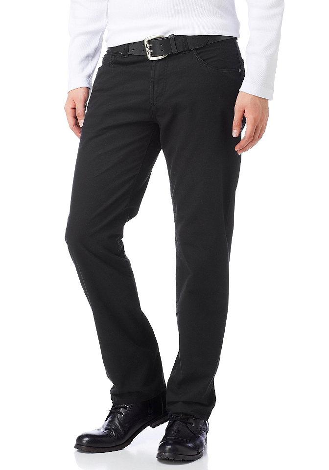 Arizona, брюки покроя с 5 карманами OttoБрюки<br>Удобный материал с содержанием эластана. С лёгким эффектом «потёртости». Из 97 % хлопка, 3 % эластана.<br><br>Size DE: 52<br>Colour: черный<br>Gender: Мужской<br>Age: Взрослый<br>Material: Верх: 98% хлопок / 2% эластан