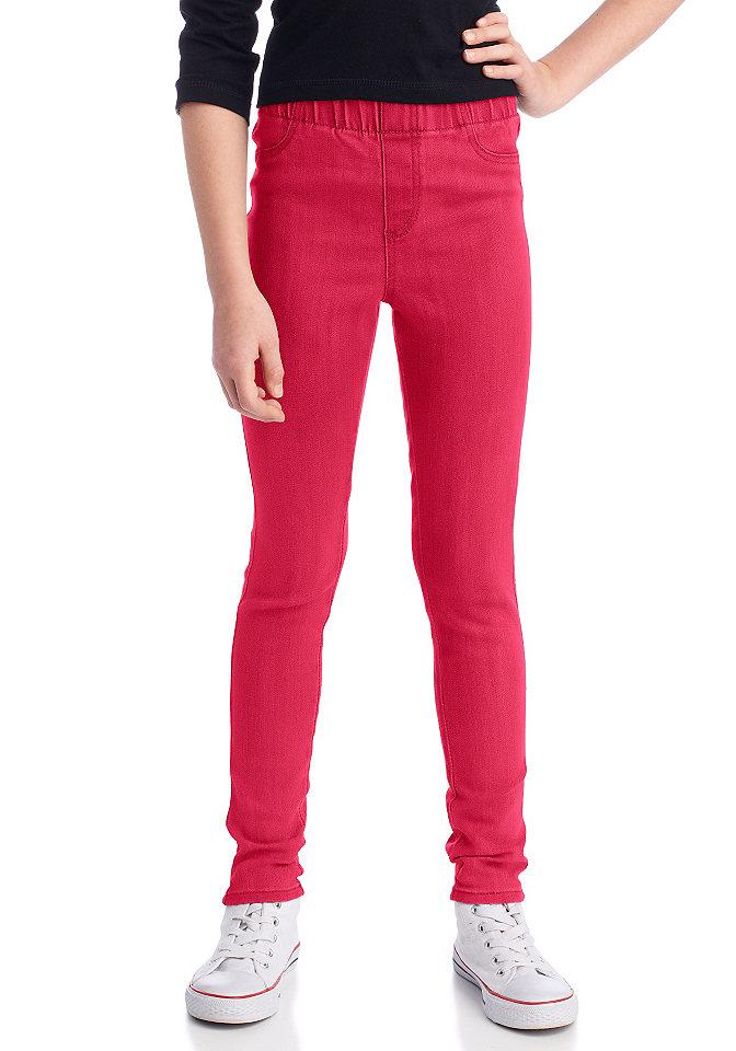 Джеггинсы о OttoБрюки и джинсы<br>Очень удобная модель с накладными задними карманами и декоративной отстрочкой спереди. Синий и омаровый цвета: 98 % хлопка, 2 % эластана. Цвета синий «варёный» и серый деним: 70 % хлопка, 27 % полиэстера, 3 % эластана.<br><br>Size DE: 170<br>Colour: красный<br>Age: Детский<br>Material: Верх: 98% хлопок / 2% эластан