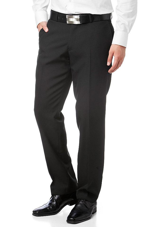 Брюки Chicago OttoБрюки<br>Классические мужские брюки узкого прямого покроя - идеальный вариант для вашего гардероба от марки Bruno Banani, не упустите возможность купить прямо сейчас! Боковые карманы, окантованные карманы сзади, складки-стрелки, петли для ремня - сдержанная элегантность дизайна очевидна. Линия пояса немного занижена. Для офиса и торжественных мероприятий эти брюки в комплекте с рубашкой и пиджаком подойдут идеально! Длина по внутреннему шву ок. 87 см (размер 98), ширины низа брючин ок. 43 см.<br><br>Size DE: 48<br>Colour: черный<br>Gender: Мужской<br>Age: Взрослый<br>Material: Подкладка: 100% полиэстер;Верх: 100% полиэстер