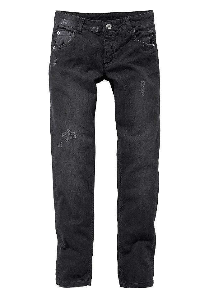 Джинс OttoБрюки и джинсы<br>Материал верха: 98% хлопок, 2% эластан.<br><br>Size DE: 134<br>Colour: черный<br>Gender: Женский<br>Age: Детский<br>Material: Верх: 98% хлопок / 2% эластан