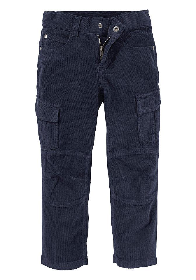 Облегающие брюки-карго Arizona OttoБрюки и джинсы<br>Материал верха: 100% хлопок.<br><br>Size DE: 122<br>Colour: синий<br>Gender: Мужской<br>Age: Детский<br>Material: Подкладка: 65% полиэстер / 35% хлопок;Верх: 100% хлопок