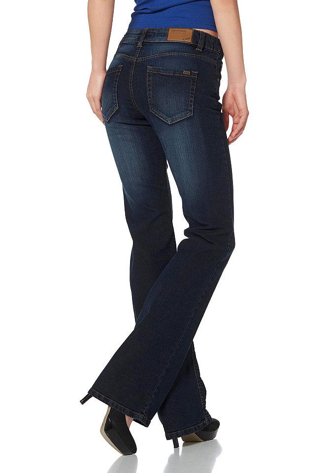 Джинсы клеш Svenja OttoПокрой Bootcut<br>Вы любите кэжуал? Выбирайте джинсы клеш Arizona с классическими деталями: 5 карманов, шлевки для ремня и нашивка на поясе. Задний карман украшен логотипом из металла. Джинсы выполнены из удобного денима-стрейч и отлично сидят благодаря стандартной талии. Носите джинсы с топами и обувью на каблуках или платформе. Длина брючин по внутреннему шву составляет для размера 19 ок. 78,5 см, размера 76 ок. 90,5 см.<br><br>Size DE: 40<br>Colour: синий<br>Gender: Женский<br>Age: Взрослый<br>Material: Верх: 98% хлопок / 2% эластан