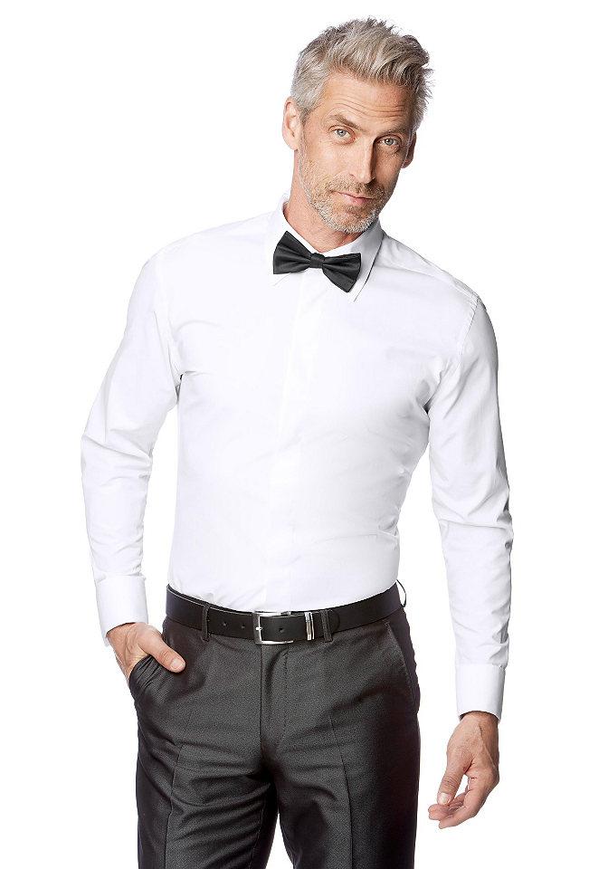 Рубашка с отворотами OttoОфисная одежда<br>С воротником «кент», манжетами с отворотом и потайной планкой застёжки на пуговицы. Комфортная посадка. 60 % хлопка, 40 % полиэстера.<br><br>Size DE: 43<br>Colour: белый<br>Gender: Мужской<br>Age: Взрослый<br>Material: Верх: 65% полиэстер / 35% хлопок