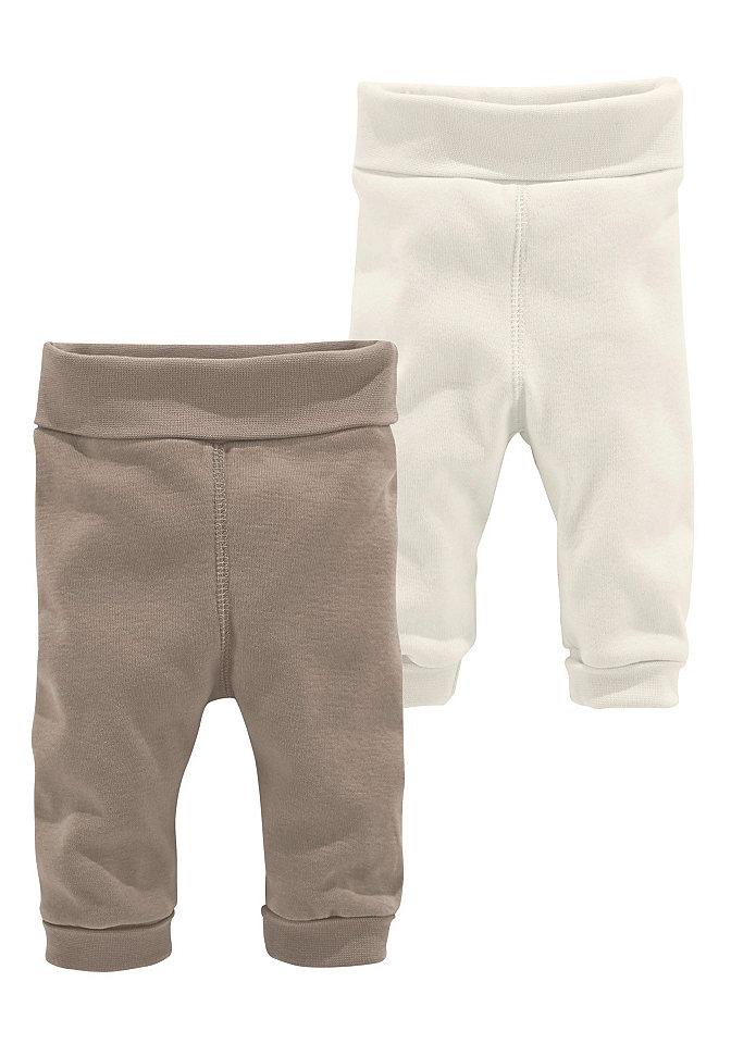 Klitzeklein, трикотажные брюки (2 пары) OttoДевочки до 3 лет<br>С удобной сплошной резинкой. Можно носить с отворотами. Сзади модная вставка для оптимального комфорта. Мягкий, эластичный материал в рубчик из 100 % хлопка.<br><br>Size DE: 74<br>Colour: коричневый<br>Age: Детский<br>Material: Верх: 100% хлопок