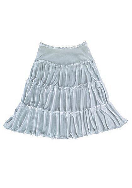 Короткая пляжная юбка OttoПлатья и Юбки<br>В качестве короткой юбки модной длины до колена. Мягко струящиеся оборки и подол, обработанный бебилоком. Удобный пояс на резинке. Мягкий материал стретч из 95% вискозы, 5% эластана. Длина ок. 90 см. Без ремня.<br><br>Size DE: 36<br>Colour: белый<br>Gender: Женский<br>Age: Взрослый<br>Material: Верх: 95% вискоза / 5% эластан