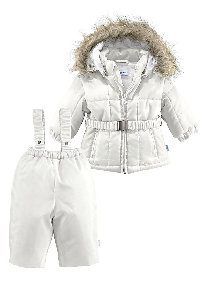Утепленный костюм, 2 части OttoДевочки до 3 лет<br>С зимним костюмом от Klitzeklein прогулки в морозные дни для вашего малыша будут максимально комфортными! Стеганая куртка на молнии дополнена практичным капюшоном со съемной отделкой из искусственного меха, резинкой на рукавах, карманами с застежками-молниями и ремнем-стрейч. В комплекте с ней идут теплые брюки с эластичным поясом и регулируемыми бретелями. Костюм не сковывает движения и надежно защищает от ветра и холода, поэтому мы советуем купить его для вашего ребенка прямо сейчас!<br><br>Size DE: 92<br>Colour: бежевый<br>Age: Детский<br>Material: Подкладка рукава: 100% полиэстер;Подкладка капюшона: 100% хлопок;Подкладка: 100% хлопок;Верх: 100% полиэстер