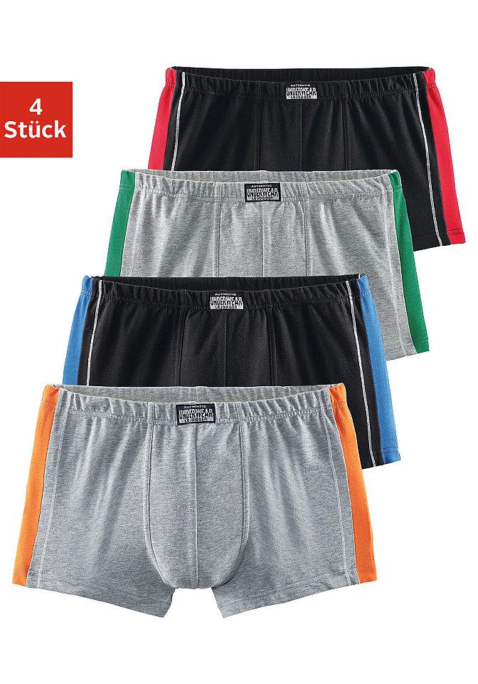 Комплект: Боксеры, Authentic Underwear Le Jogger (4 пары) OttoБоксерские шорты<br>С контрастными вставками и швами по бокам. Из 95 % хлопка, 5 % эластана.<br><br>Size DE: 5<br>Colour: Комплект расцветок<br>Gender: Мужской<br>Age: Взрослый<br>Material: Верх: 95% Baumwolle_(unterst?tzt_Cotton_made_in_Africa) / 5% эластан