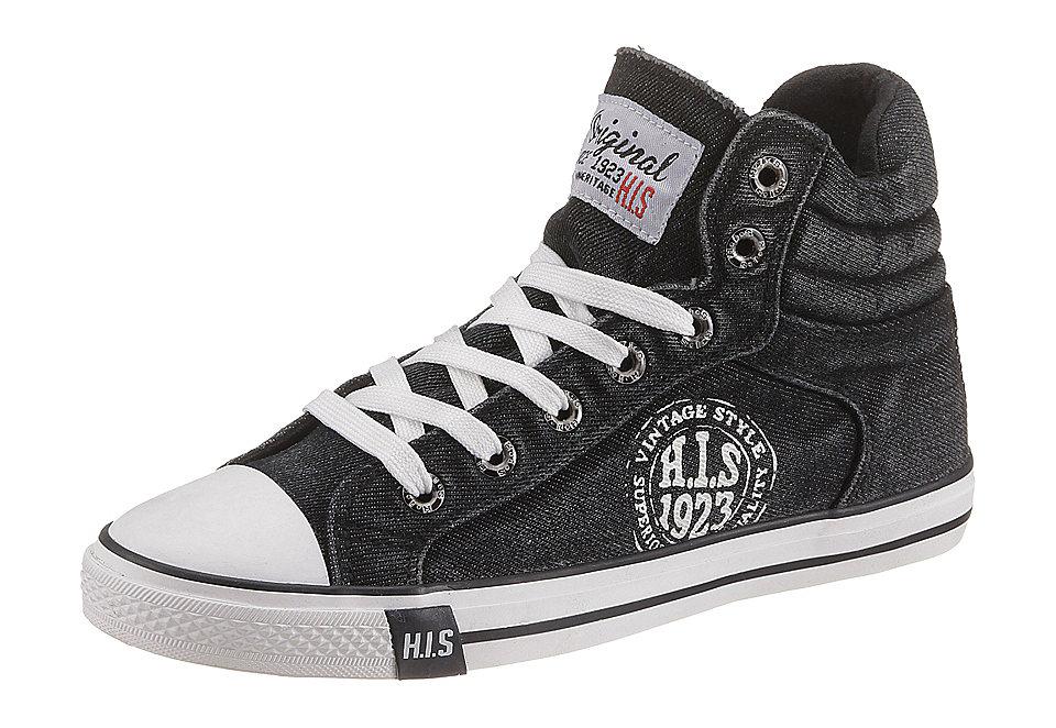 """Ботинки на шнуровке H.I.S, выполненные из материала с эффектом """"состаренности"""" Otto от OTTO"""