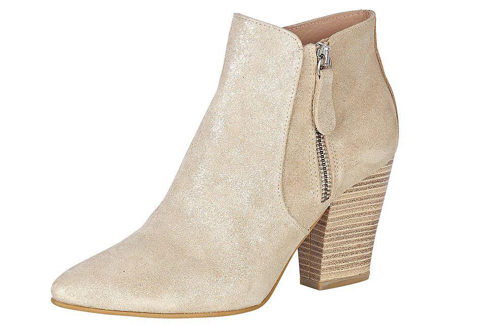 Полусапожки OttoСапожки<br>Кожаные ботильоны для женщин - отличный вариант демисезонной обуви, купить который можно в нашем интернет-магазине! Простой фасон подчеркивает легкий металлический блеск материала. Широкий каблук (ок. 8 см), хорошо гнущаяся подошва и кожаные подкладка и стелька заботятся о вашем комфорте. Стильные и удобные ботильоны - правильный выбор для вас!<br><br>Size DE: 39<br>Colour: бежевый<br>Gender: Женский<br>Age: Взрослый