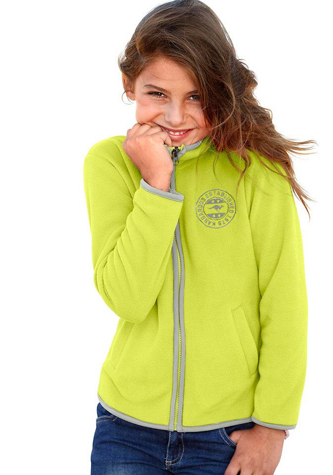 Флисовая куртка Kangaroos OttoКуртки и пальто<br>Материал верха: 100% полиэстер.<br><br>Size DE: 140<br>Colour: зеленый<br>Age: Детский<br>Material: Верх: 100% полиэстер