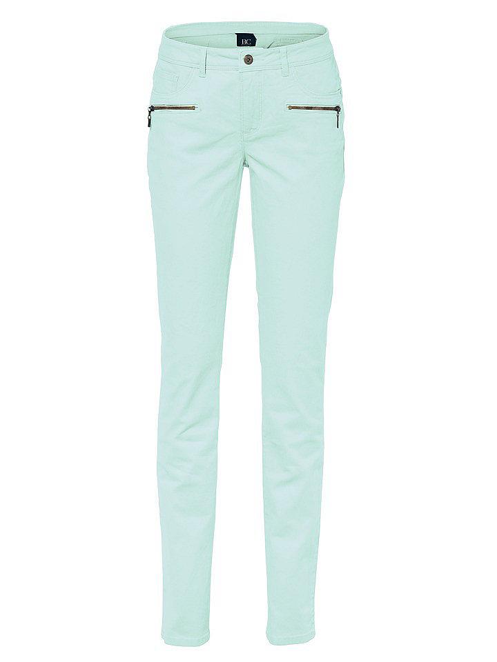 Джинсы OttoДжинсы «дудочки»<br>Женственная блуза облегающего кроя с глубоким вырезом, декорированным изящным воланом из джерси, и длинными рукавами с высокими манжетами. Длина для размера 38 около 64 см. Состав: 100% вискоза. Рекомендуется машинная стирка.<br><br>Size DE: 25<br>Colour: зеленый<br>Gender: Женский<br>Age: Взрослый<br>Material: Верх: 65% хлопок / 33% полиэстер / 2% эластан