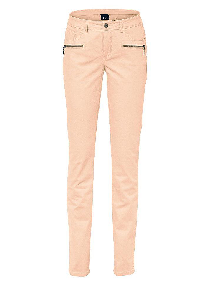 Джинсы OttoДжинсы «дудочки»<br>Женственная блуза облегающего кроя с глубоким вырезом, декорированным изящным воланом из джерси, и длинными рукавами с высокими манжетами. Длина для размера 38 около 64 см. Состав: 100% вискоза. Рекомендуется машинная стирка.<br><br>Size DE: 38<br>Colour: оранжевый<br>Gender: Женский<br>Age: Взрослый<br>Material: Верх: 65% хлопок / 33% полиэстер / 2% эластан