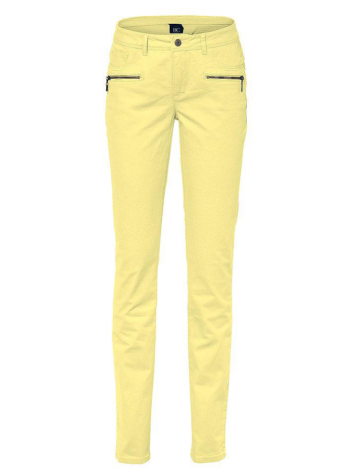 Джинсы OttoДжинсы «дудочки»<br>Женственная блуза облегающего кроя с глубоким вырезом, декорированным изящным воланом из джерси, и длинными рукавами с высокими манжетами. Длина для размера 38 около 64 см. Состав: 100% вискоза. Рекомендуется машинная стирка.<br><br>Size DE: 24<br>Colour: желтый<br>Gender: Женский<br>Age: Взрослый<br>Material: Верх: 65% хлопок / 33% полиэстер / 2% эластан